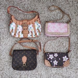 🌸 Four Purse Shoulder Handbag Lot